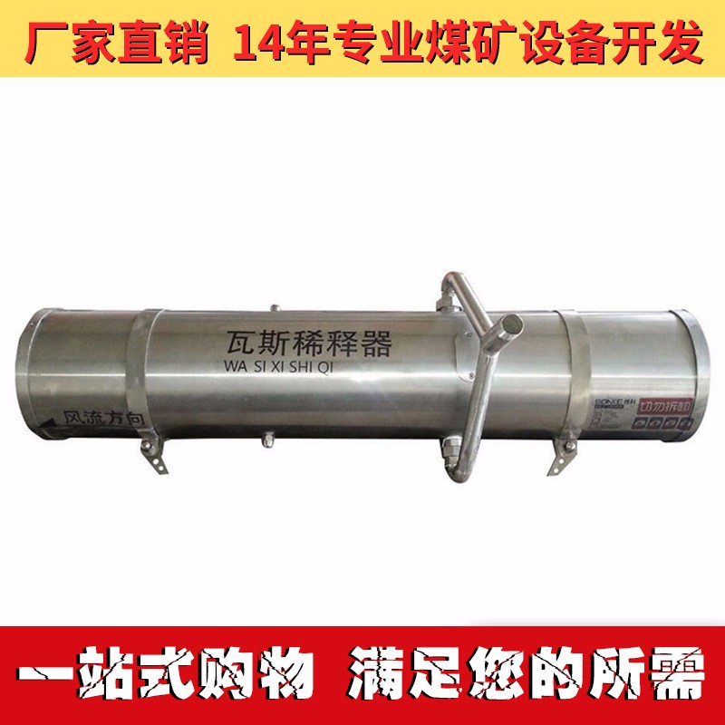 专利煤矿用防爆瓦斯稀释器 全新设计思路,实用死角瓦斯处理