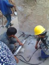 人工挖孔桩设备高效安全免爆破液压劈裂机即劈破机劈力机致裂机