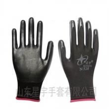 星宇N528彩尼龙丁腈透气浸胶薄劳保防护手套
